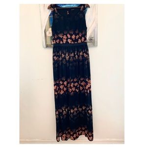 Jessica Simpson Floral Print Vacation Maxi Dress